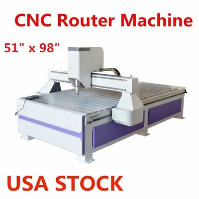 "51"" x 98"" 1325 Ad and Woodworking CNC Router Machine, with 3KW Spindle US Stock"