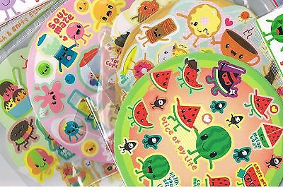 Approx 90 scratch & sniff stickers -5 assorted scents - Cupcake ,Watermelon ,etc