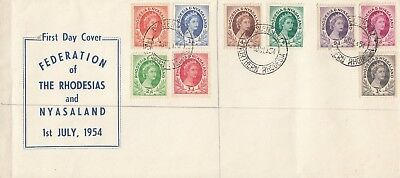 C 1845 R & N July 1954 First Day Cover; Broken Hill Northern Rhodesia cds