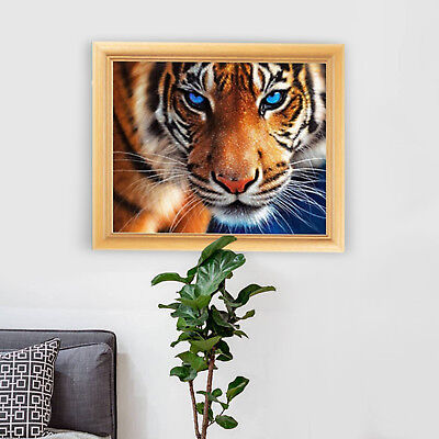 Full Drill Tiger 5D Diamond DIY Painting Craft Kit Home Wall Hanging Decor Gifts