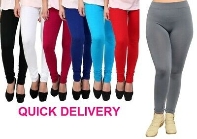 Full Length High Waist Leggings Genuine Cotton and Lycra All Sizes & Color*CtnLg