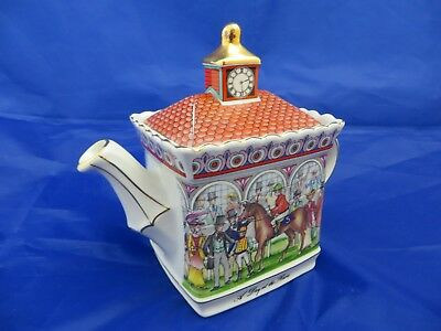Sadler Championship's A DAY AT THE RACES 16cm high Teapot