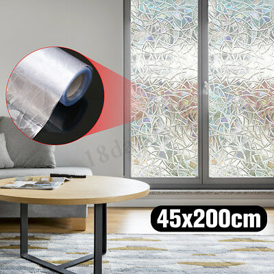 3D window film Static Decorative Privac AntiUV frosted Floral flowers 17.7x78.7'