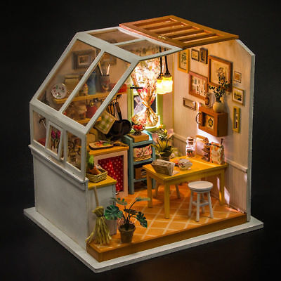 ROBOTIME Miniature Kitchen Dollhouse Kits DIY Room Toy Gift for Adult Girl Teens
