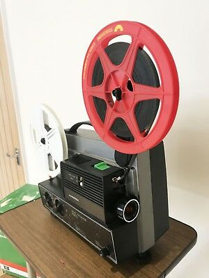 HANIMEX 808D Dual Gauge SUPER 8 8MM CINE PROJECTOR fully serviced ready to go