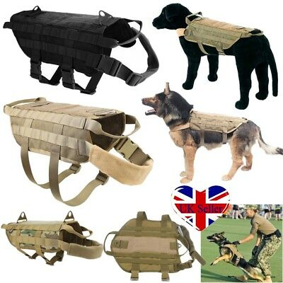 UK Pet Dog K9 Canine Molle Military Tactical Vest Harness Nylon Suit Jacket Coat