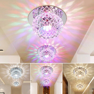 Crystal LED 5W Ceiling Light Fixture Pendant Lamp Lighting Chandelier