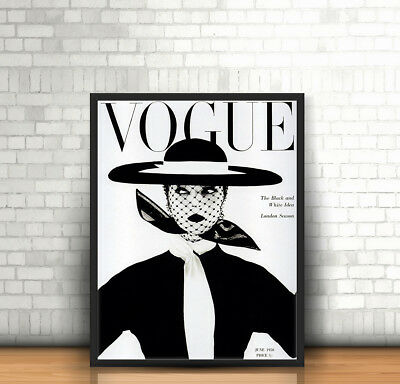 Vogue Fashion Paris Decor Boutique Salon Art Giant Poster Wall Print A4 A3 A2 A1