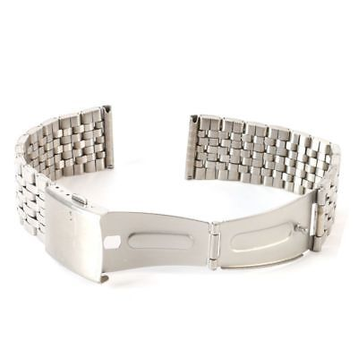 Men Women Stainless Steel Metal Watch Band Bracelet Clasp Belt Strap 18-22mm UK