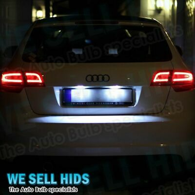 2x AUDI A3 S3 8P 2003-2008 6 LED 36mm NUMBER PLATE CANBUS ERROR FREE BULBS WHITE