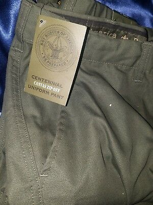 Adult Canvas Boy Scouts Of America Zip Off Convertible  Pants