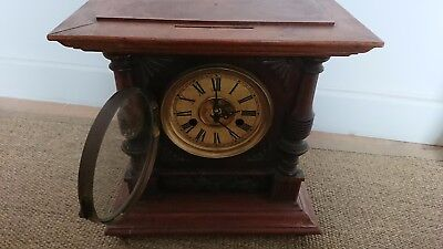 Antique mantle clock made by H.A.C. 14 day Strike early 1900's No 3149 German