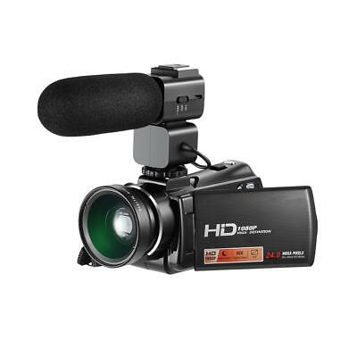 Professional DV Digital Camera Video Camcorder FULL HD Wide Angle w/ Microphone