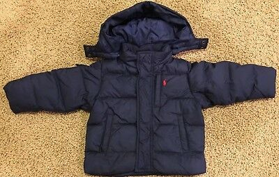 Polo by Ralph Lauren ~ Navy Blue Down Jacket ~ Size 24 Months ~ EUC ~