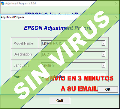 Delivery Email EPSON Reset Waste Ink Pad PM290