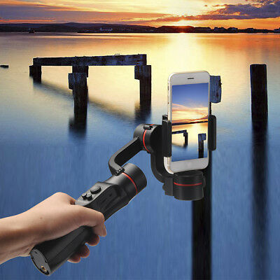 3-Axis Handheld Mobile Phone Gimbal Stabilizer for Smart phone Black Tool UK