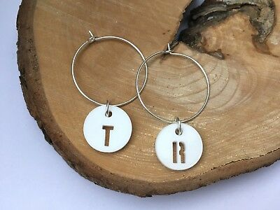 Personalised Wine Charms Letter Initial Name Teacher Wedding Hen Party Xmas Gift