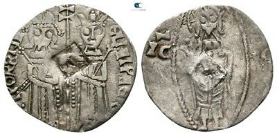 Savoca Coins Medieval Silver Coin Christ Countermark 0,56g/15mm $KBP3213