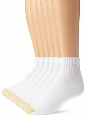 Gold Toe Men's Cotton Quarter Big and Tall Athletic Sock, White, Shoe Size: 1...