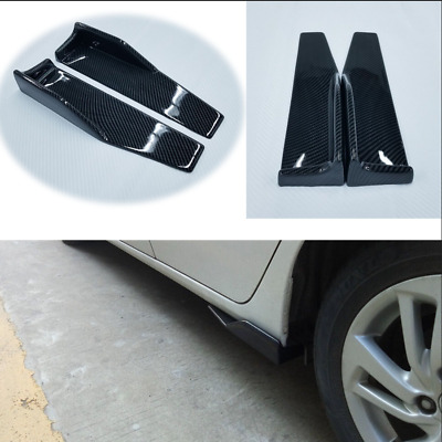 olypropylene Car Carbon Look Side Skirt Rocker Splitters Winglet Wings body kit
