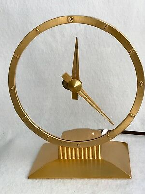 Mid Century Modern Jefferson Golden Hour Electric Mystery Clock, Works Great