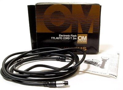 Olympus TTL Auto Cord T 2m for OM System | Boxed + Instruction Leaflet.