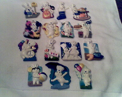 Lot / Set - 15 Pillsbury Doughboy Willabee & Ward 2009 Refrigerator Magnets