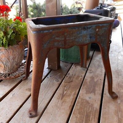 Cast Iron Table Base 4 legs Antique Industrial Loft Vintage Cabin apx 18.5 tall