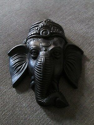 Ganesh Black Wall Hanging Decoration from Thailand