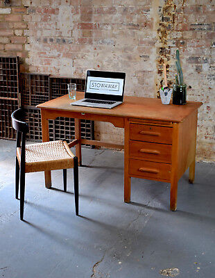 Vintage Mid Century Pedestal Teachers Desk CAN DELIVER
