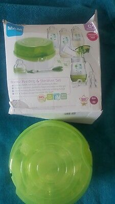 Brand new mam breastfeeding + steriliser set with breast pump + bottles.