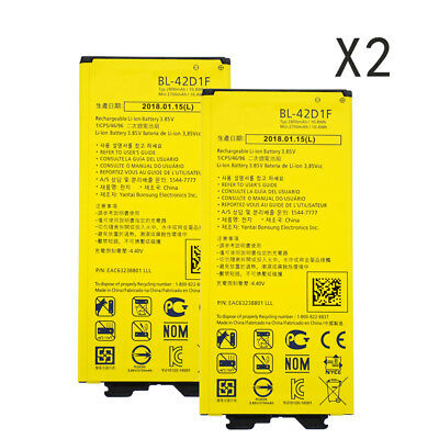 2pcs Battery BL-42D1F for LG G5 H850 VS987 H820 LS992 H830 US992 2800mAh akku