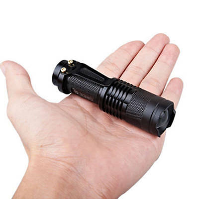 5000LM Zoomable LED 3 Modes Police Tactical Flashlight Camping Torch Lamp Light