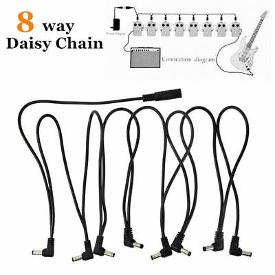 1 To 8 Way Electric Guitar Effects Pedal Daisy Chain Power Supply Cable