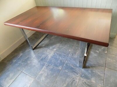 Vintage Rosewood & Chrome Executive Desk/Dining Table after Gordon Russell VGC