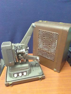 Vintage 1940's REVERE MODEL 16 SOUND/FILM PROJECTOR–8MM with HARD CASE *WORKING*