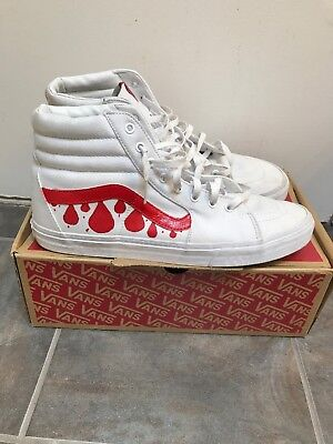 "d0b8f3f33fb2 VANS SK8 HI ""Drippy"" Custom Mens Size 14 -  30.00"
