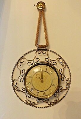 Vintage  wall Clock With Gold Coloured Scroll Surround