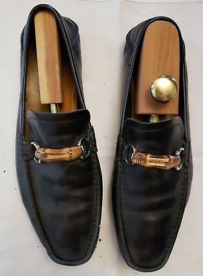 dcacd7f96c7 Gucci Driver Shoes Black Bamboo Buckle Loafer 12 UK 13 US Nordstrom NO  RESERVE
