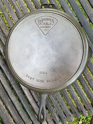 Rare #14 Wagner Ware Pie Logo Cast Iron Skillet Heat Ring Pan #1064