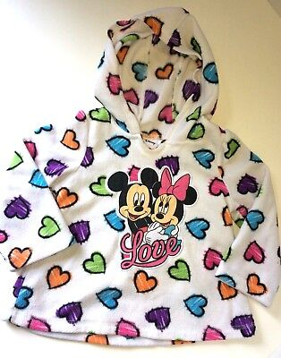 Disney Mickey And Minnie Mouse Hooded Pullover Sweatshirt Girls Size 18 Months.