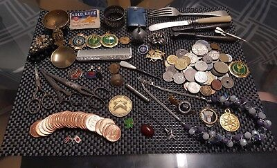 Collection of Vintage Antique Collectables and Curios with coins ect...Job lot..