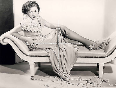 Beautiful Actress Winifred Shaw Smoking On The Couch Leggy In Nylons Photo  A-W
