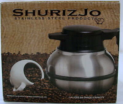 Newco Shuriz Jo Stainless Steel 64 Oz Replacement Coffee Thermos Server NOS
