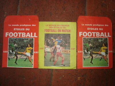 Lot 3 pochette vide Etoiles du football - Football en match - AGE PANINI FOOT