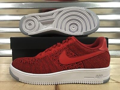 802a556db7b4 Nike Air Force 1 Af1 Ultra Flyknit Low Shoes Red White Sz 10
