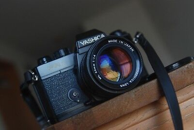 Yashica FR 1 camera body with Yashica ML 50mm F1.4 lens