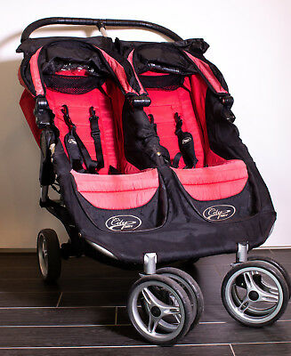 Baby Jogger City Mini Double Stroller Red Black Model 67173