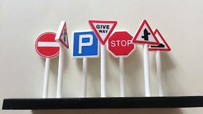 Set of road signs for toy car set