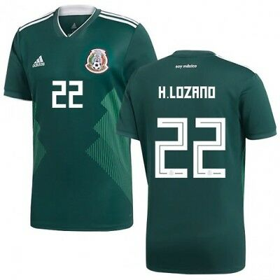 ADIDAS HIRVING LOZANO Mexico Authentic Match Home Jersey World Cup ... 8c291b71e